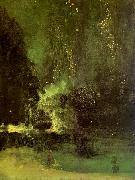 James Abbott McNeil Whistler Nocturne in Black and Gold oil painting