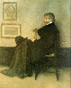 James Abbott McNeil Whistler Portrait of Thomas Carlyle oil painting