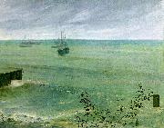 James Abbott McNeil Whistler Symphony in Grey and Green oil painting