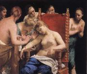 Guido Cagnacci Suicied of Cleopatra oil painting