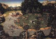 Lucas Cranach the Elder Stag hunt of Elector Frederick the Wise oil painting