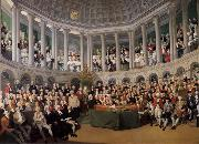 Thomas Pakenham The Irish House fo Commons addressed by Henry Grattan in 1780 during the campaign to force Britain to give Ireland free trade and legislative independ oil painting
