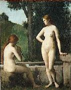 Jean-Jacques Henner Idylle oil painting