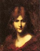 Jean-Jacques Henner A Red Haired Beauty oil painting