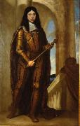 Guido Cagnacci Kaiser Leopold I. (1640-1705) im Kronungsharnisch oil painting