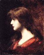 Jean-Jacques Henner Head of a Girl oil painting