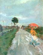 Lajos Deak-ebner On the Road oil painting