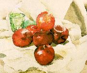Demuth, Charles Still Life with Apples and a Green Glass oil painting