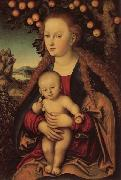 Lucas Cranach the Elder Madonna and Child Under an Apple Tree oil painting